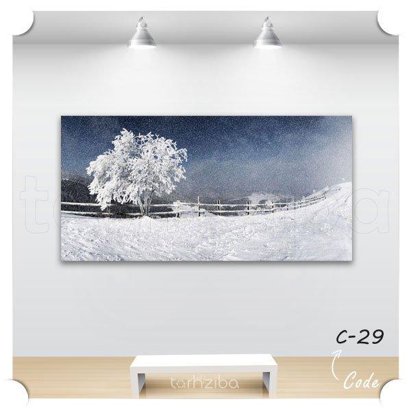 خرید تابلو دیواری دشت برفی