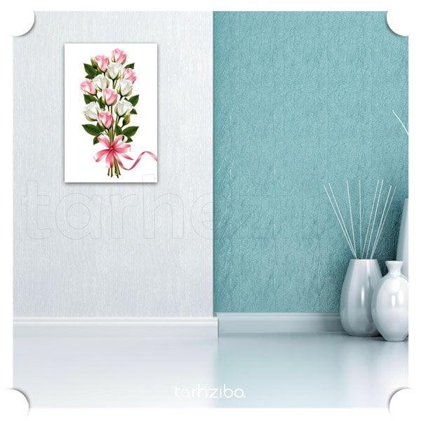 خرید اینترنتی تابلو دکواتیو گلهای زیبا