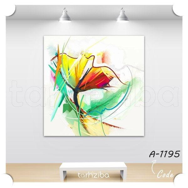 تابلو عکس نقاشی گلهای زیبا