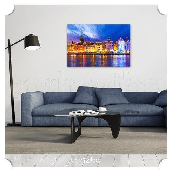 تابلو عکس نمای شهر سوئد