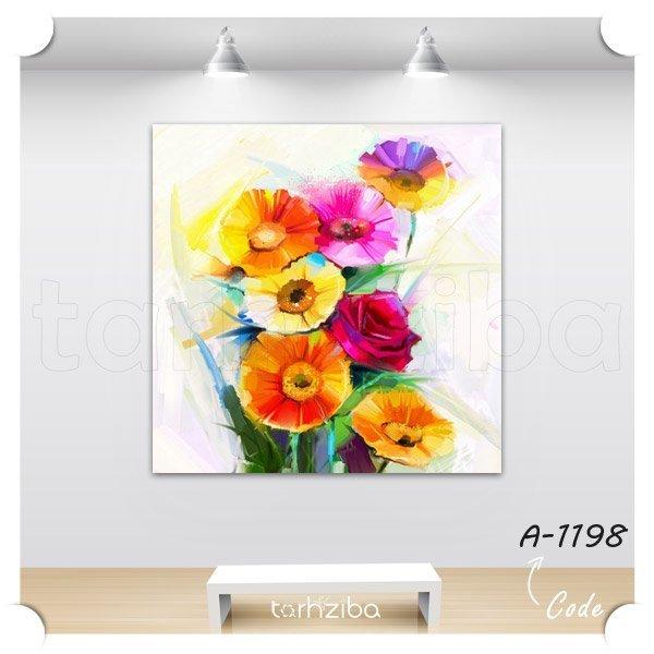 تابلو شاسی گلهای رنگی فانتزی