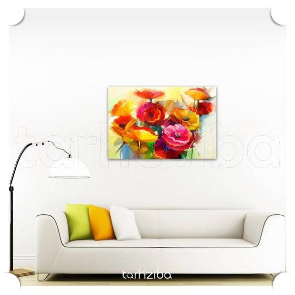 تابلو دکوری نقاشی باغ گلها
