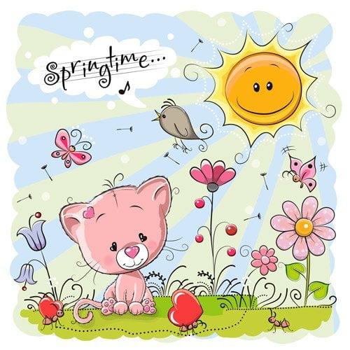 تابلو تزئینی فصل بهار کودکانه