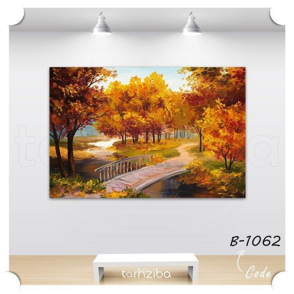 تابلو عکس دیواری نقاشی جنگل