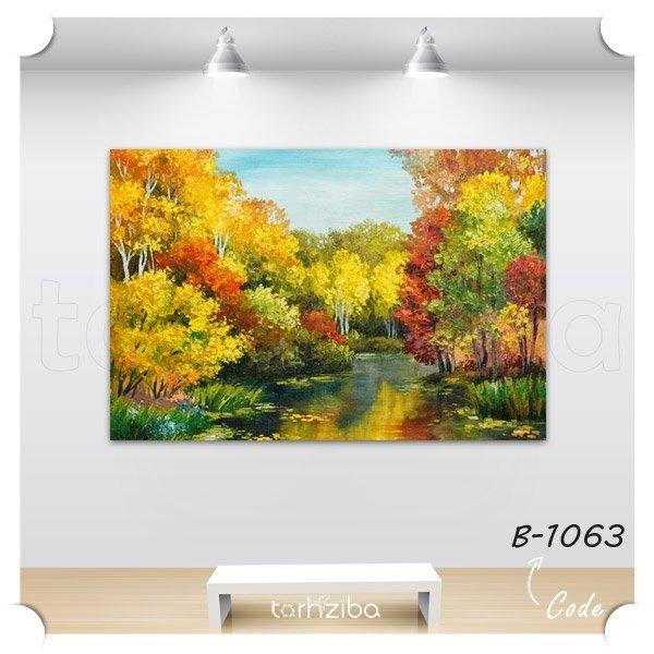 تابلو دکوری نقاشی جنگل