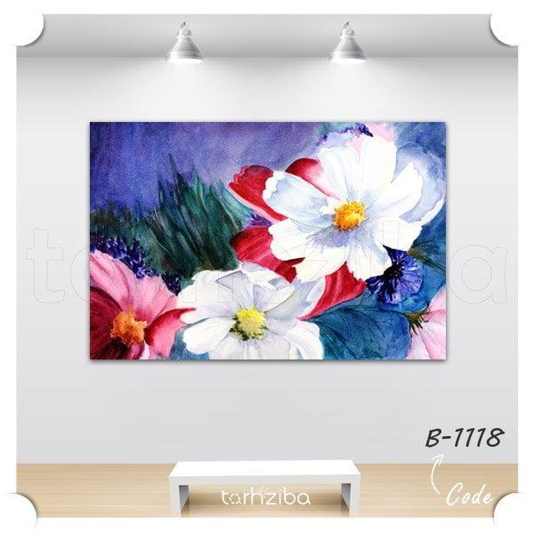 تابلو چند تکه نقاشی گلها
