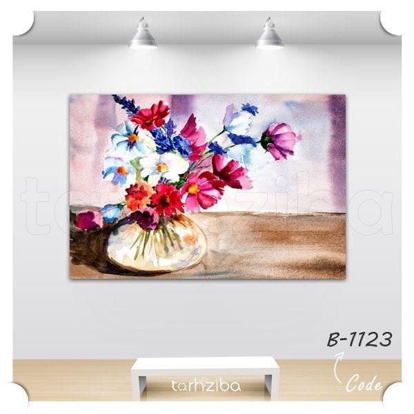 تابلو دکوری نقاشی گلدان گل
