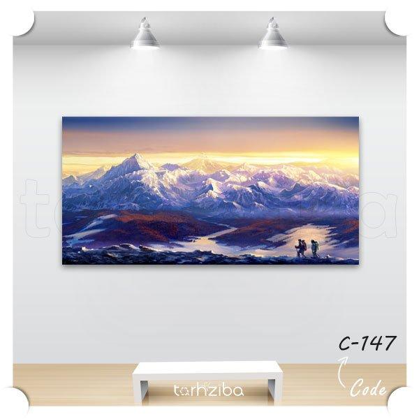 تابلو کوهستان برفی
