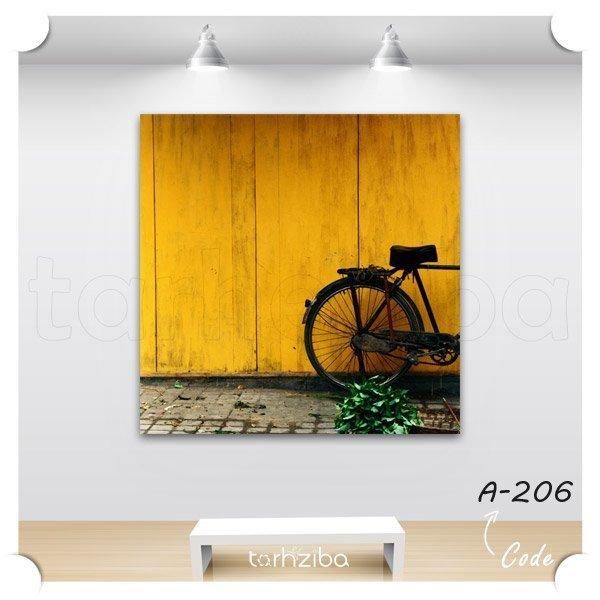 تابلو کلاسیک با زمینه زرد