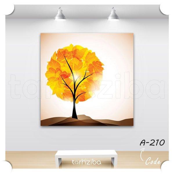 تابلو عکس درخت پاییزی