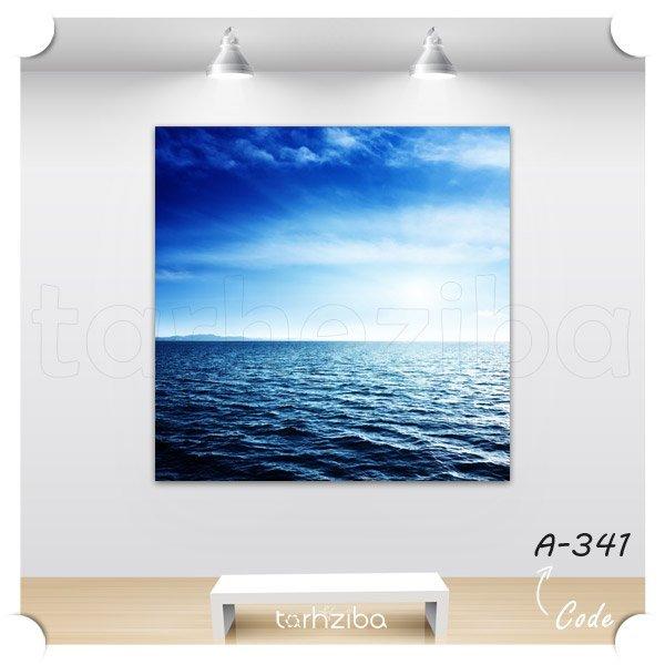 تابلو عکس دریا و آسمان آبی