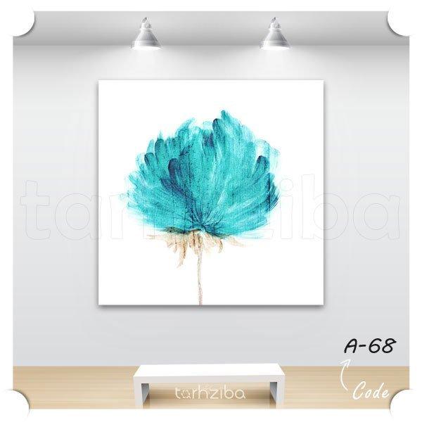 تابلو دکوری شاخه گل آبی