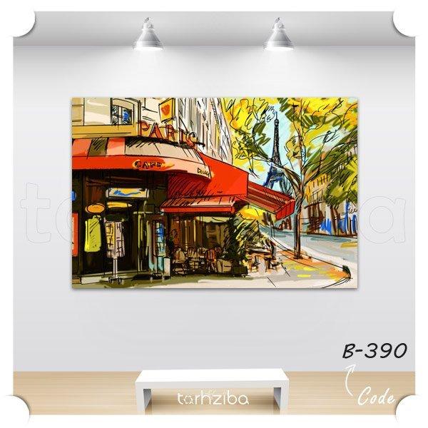 تابلو عکس پاریس زیبا