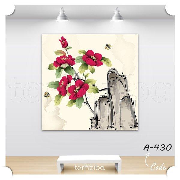 تابلو عکس گلهای صخره ای