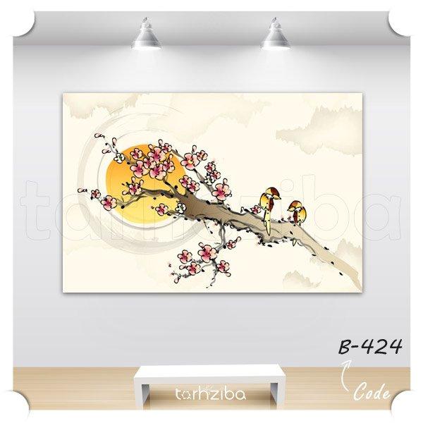 تابلو درخت پرندگان فانتزی