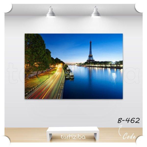 تابلو عکس نمای ایفل و پاریس