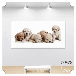 تابلو سگ کوچولوهای با مزه