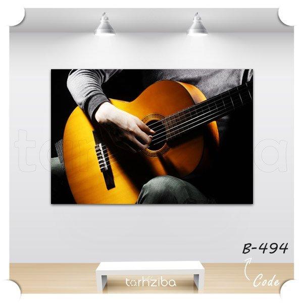 تابلو عکس گیتار آکوستیک