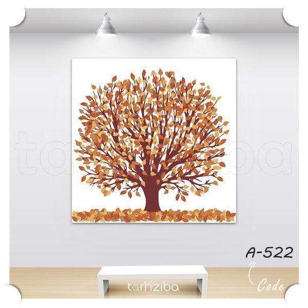 خرید تابلو درخت پاییزی