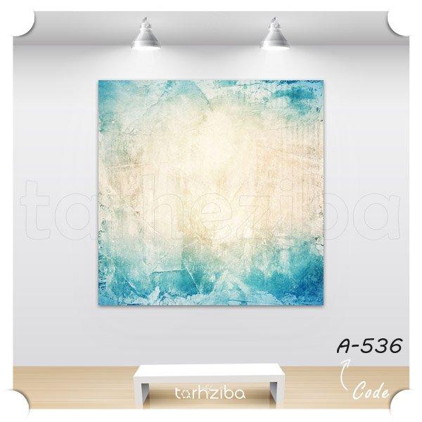 تابلو دیواری ابستره آبی