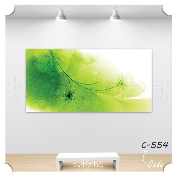 فروش تابلو مدرن سبز و سفید