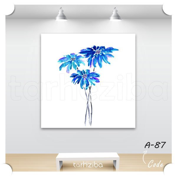 تابلو عکس دیواری طرح گل