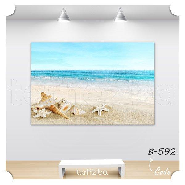 تابلو منظره ساحل و دریا