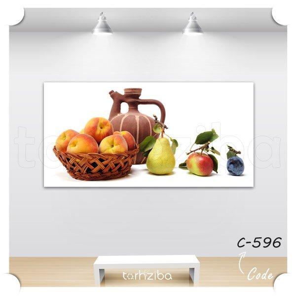 تابلو دکوری سبد میوه و خمره