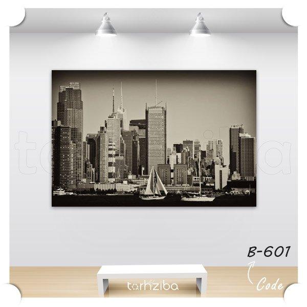 تابلو نمای شهری سیاه و سفید