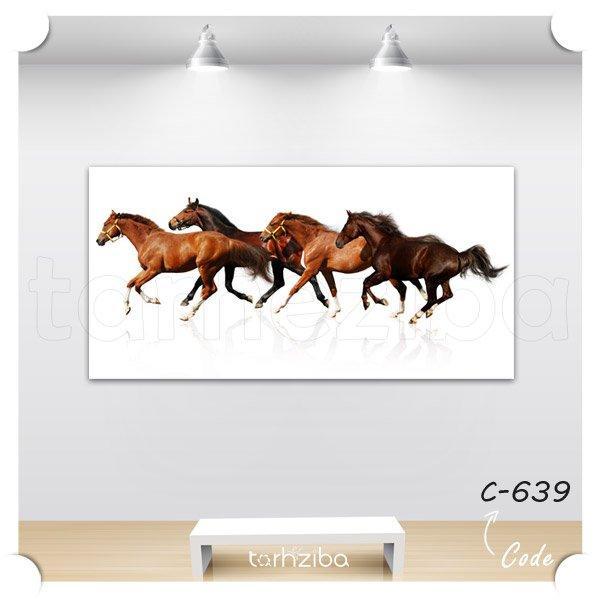 تابلو دکوراتیو گله اسبها