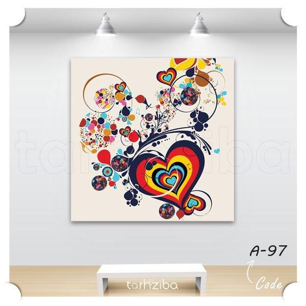 فروش تابلو عکس رمانتیک طرح قلب