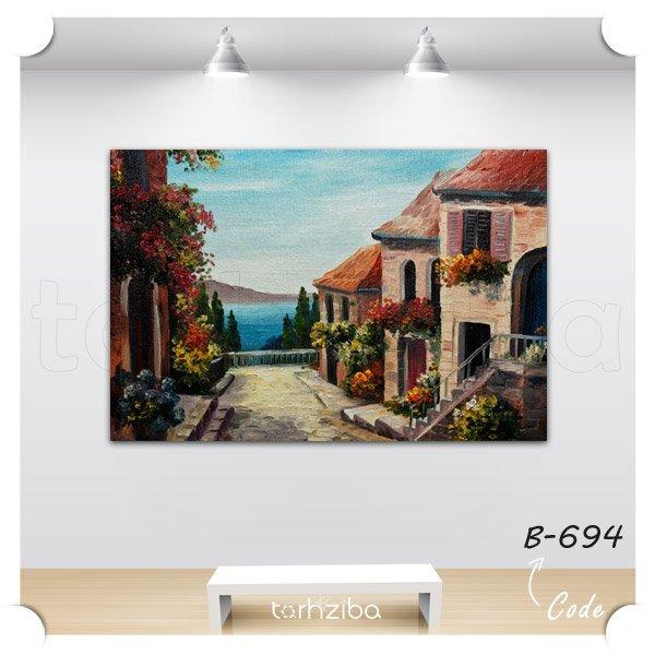 تابلو عکس نقاشی منطقه ساحلی
