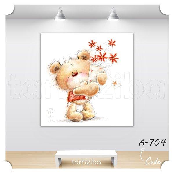 خرید تابلو خرس کوچولو برای اتاق کودک