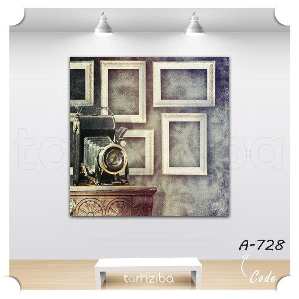 تابلو عکس دوربین قدیمی