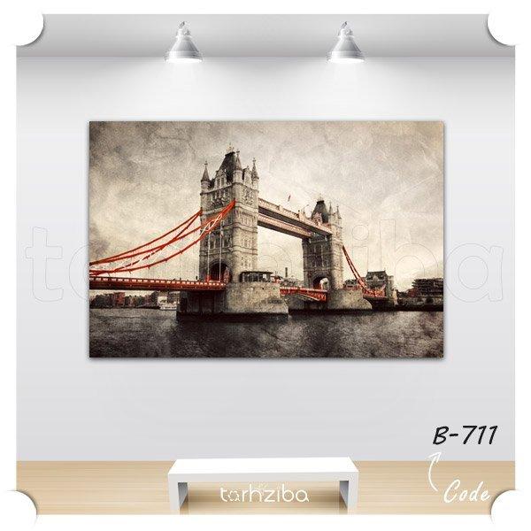 تابلو عکس پل قدیمی شهر لندن
