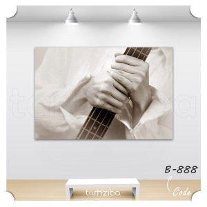تابلو دیواری و مدرن طرح گیتار