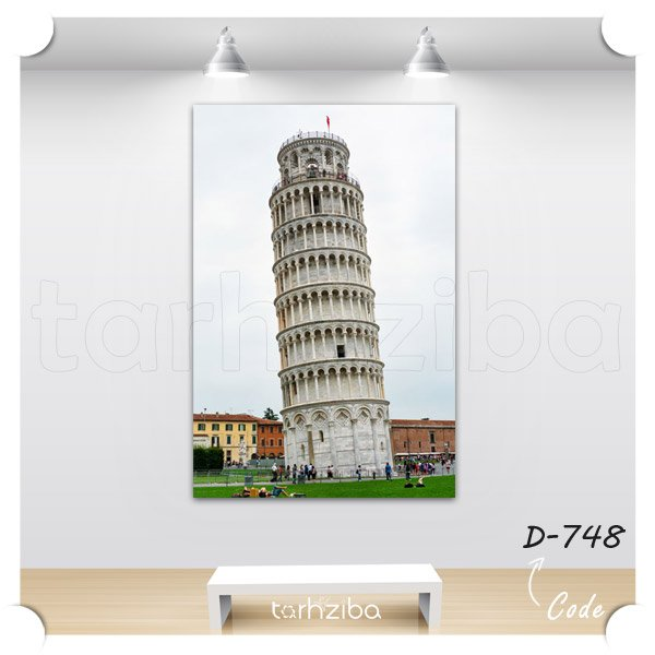 تابلو عکس برج پیزا