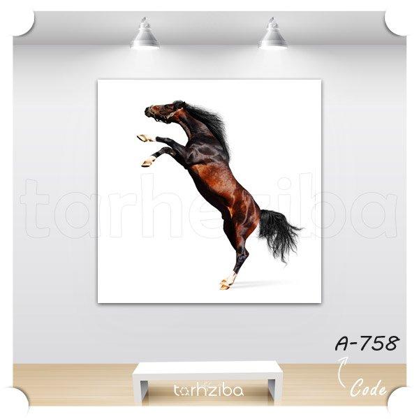 تابلو دکوری اسب رم کرده