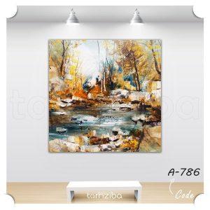 تابلو عکس نقاشی جنگلی