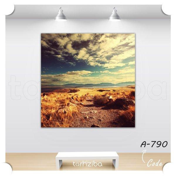 تابلو دیواری منظره صحرایی