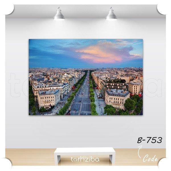 تابلو عکس نمای شهر پاریس