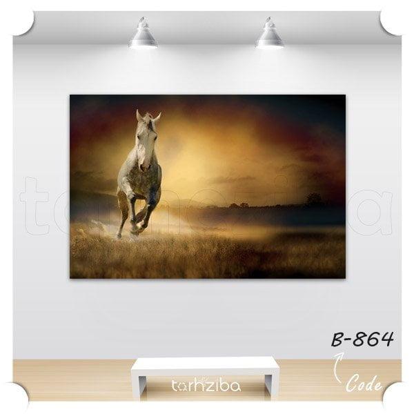 تابلو دیواری اسب رمنده