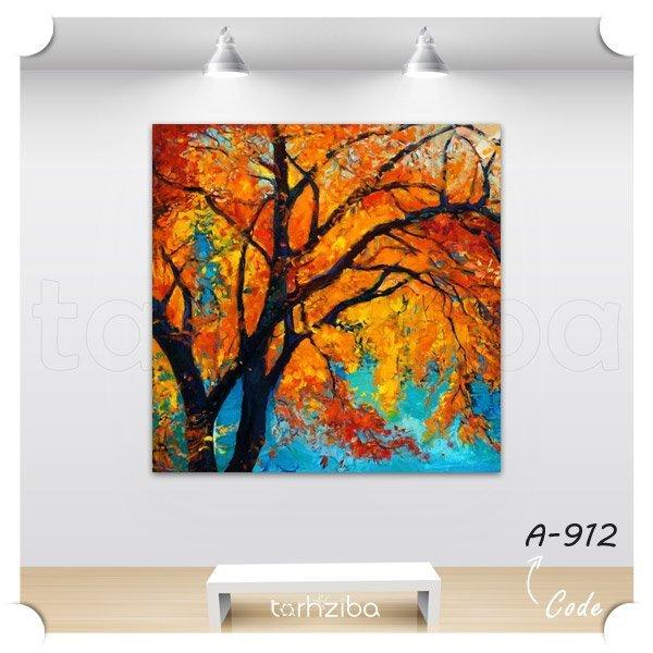 تابلو عکس نقاشی درخت