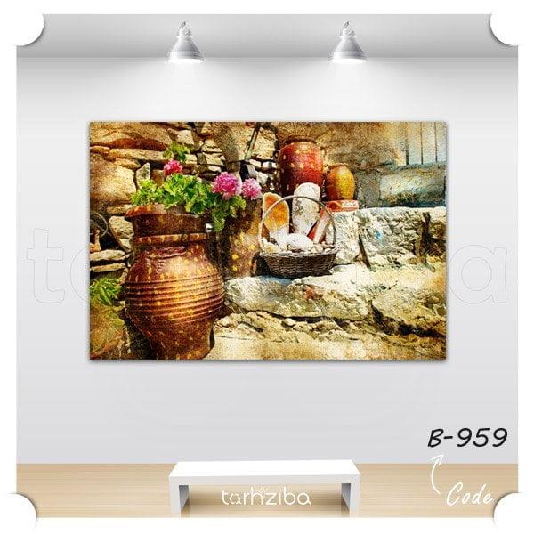 تابلو شیک دیواری گلدان