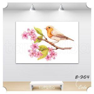 تابلو شیک و فانتزی پرنده زیبا