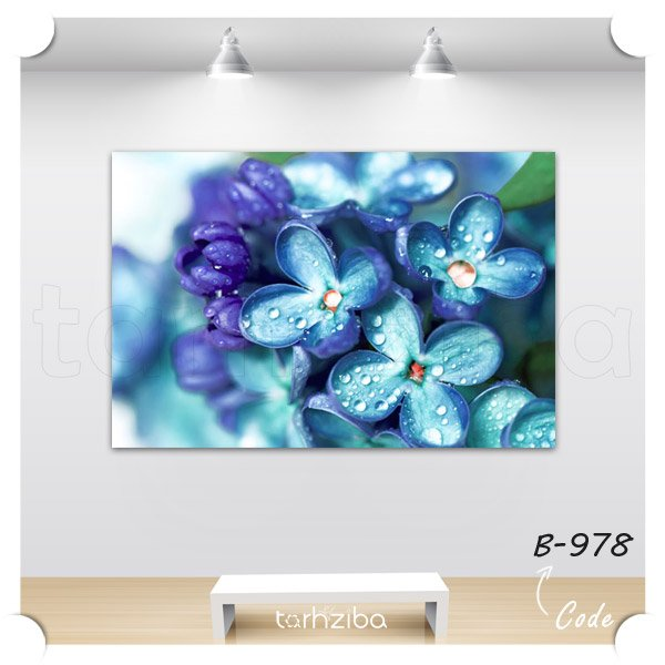 تابلو دکوری گل میخک آبی