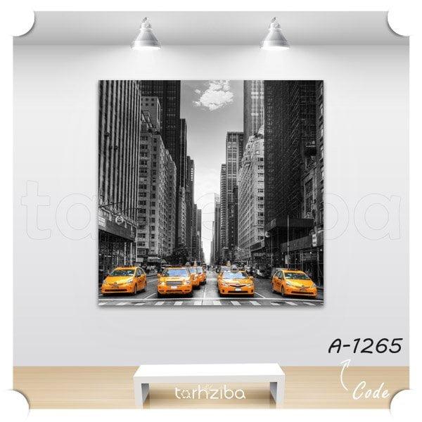 تابلو مدرن تاکسیهای زرد نیویورک