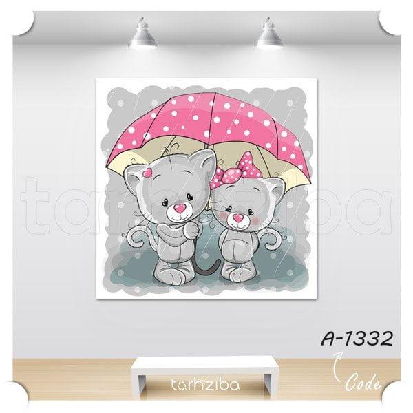 تابلو عکس عشق بارانی