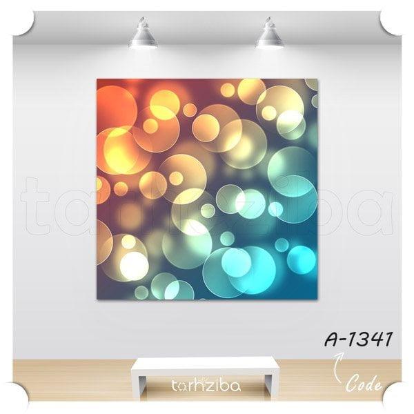 تابلو عکس حباب های رنگی