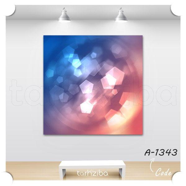 تابلو عکس بوکه رنگهای محو